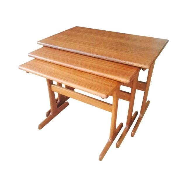 Danish Modern Teak Nesting Tables Set Of 3 Chairish