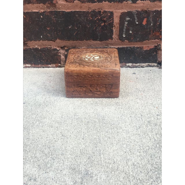 Mother of Pearl Hand-Carved Decorative Box - Image 2 of 5