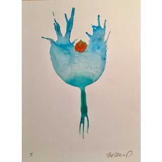 'Blueberry' Watercolor Painting