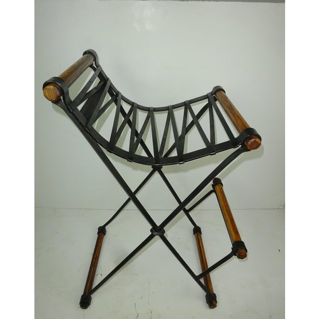Iron and Oak Bar Stool by Cleo Baldon for Terra - Image 5 of 7