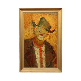 1957 Niels Mogensen Clown Portrait Painting