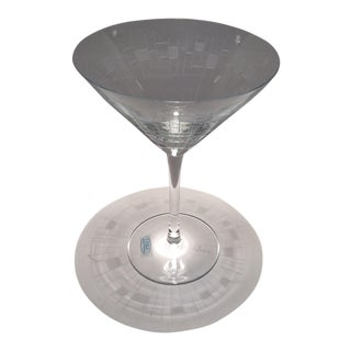 Roxi Etched Romanian Crystal Martini Glass