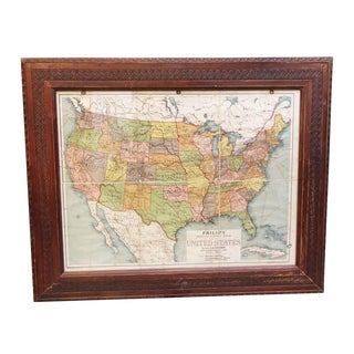 Framed Vintage Map of the United States