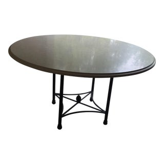 Round Travertine Stone Patio Table