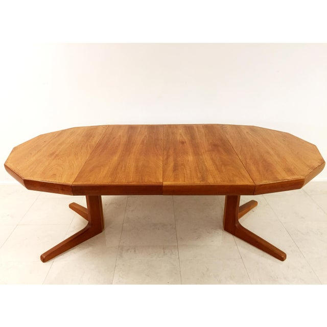 Vintage Danish Teak Extending Dining Table - Image 7 of 8