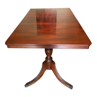 Antique Two Pedestal Mahogany Dining Table