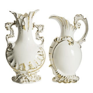 Gold Leaf Vases - a Pair