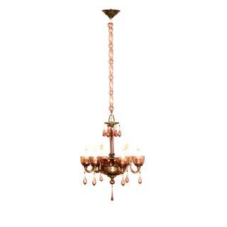 Six Light Amethyst Venetian Chandelier