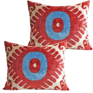 Silk Velvet Accent Pillows - A Pair