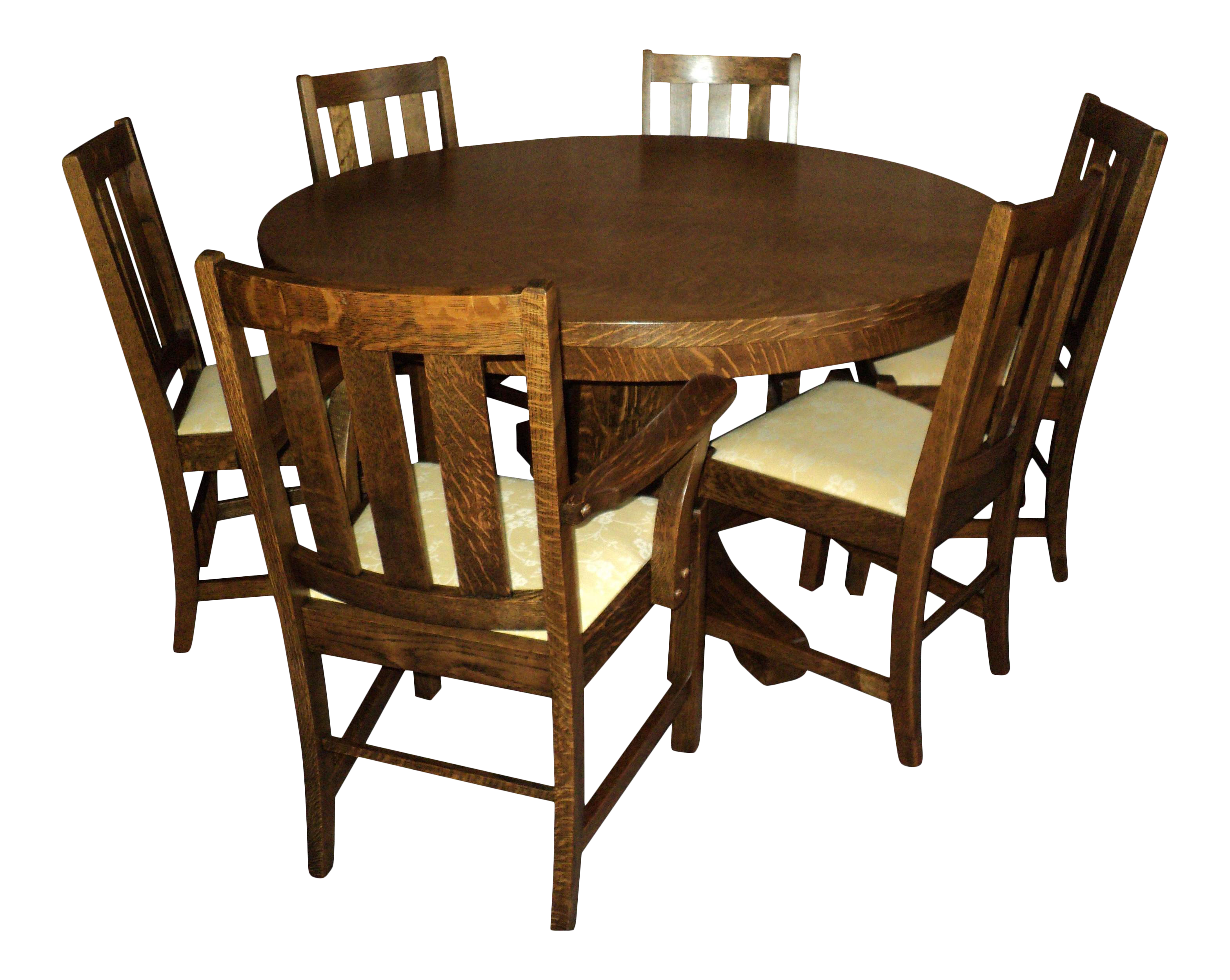 Antique Arts U0026 Crafts Mission Oak Dining Set   Set ... Part 91