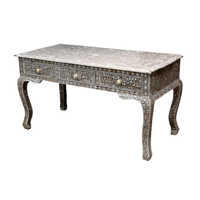 Image of Mother of Pearl Inlay Desk