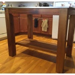 Image of West Elm Rustic Kitchen Island
