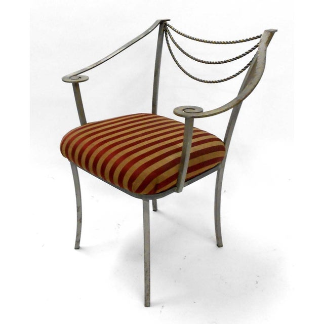 Neoclassical Inspired Metal Armchair - Image 2 of 8