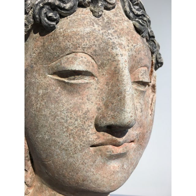 Image of Gandharan Terracotta Head of a Bodhisattva, 3rd - 5th century