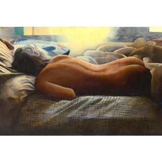 "Framed ""Resting Nude"" Painting"