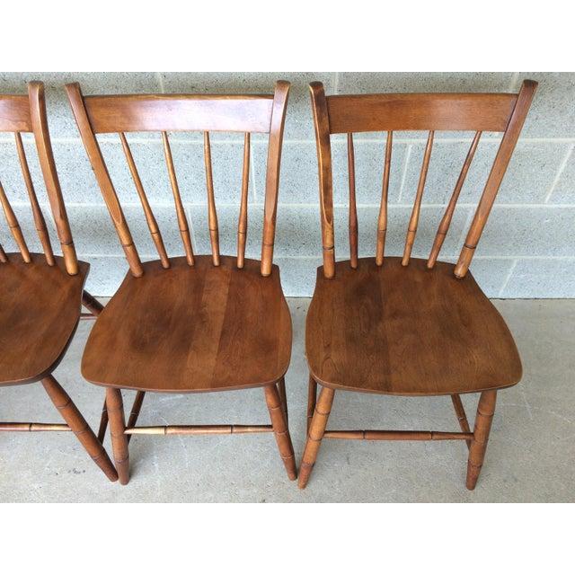 Hitchcock Style Arrow Back Farmhouse Maple Side Chairs Chair Chairish