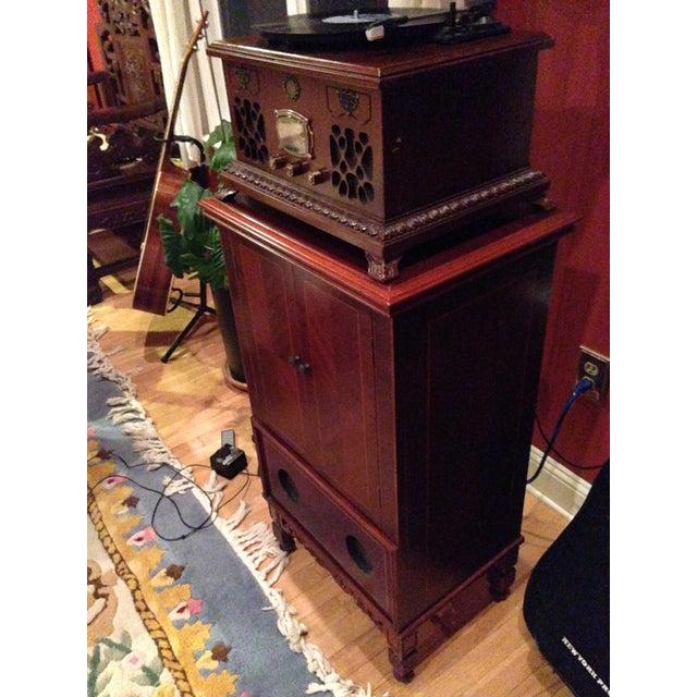 Image of Mahogany Gramophone Replica