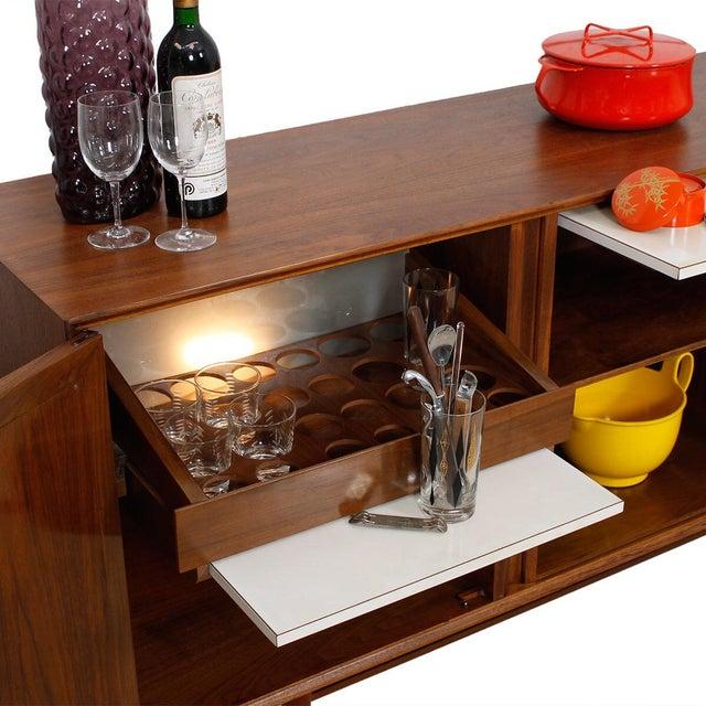Mid-Century American Modern Walnut Sideboard & Dry Bar - Image 8 of 11