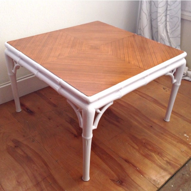 Hollywood Regency Bamboo Coffee Table - Image 6 of 7