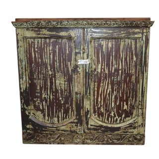 Shabby Chic Painted Indian Cabinet