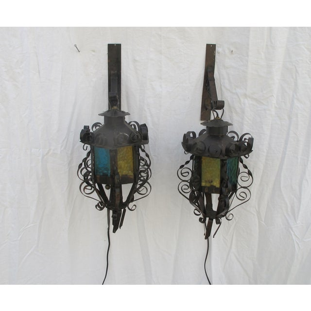 Image of Carriage Trade-Style Hanging Sconces - Pair