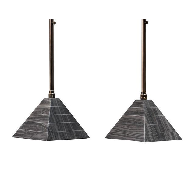 Image of Erickson Aesthetics Marble and Brass Cocktail Tables