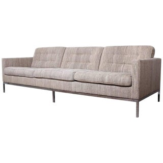 "Sofa Designed by Florence Knoll in ""Cato"" Wool Upholstery"