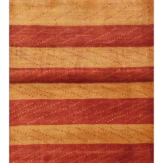 Striped Persian Gabbeh Rug - 4′6″ × 5′