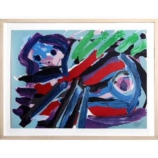 "Karel Appel, ""Walking With My Bird,"" Lithograph"
