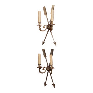 French Directoire Style Bronze Sconces - Pair
