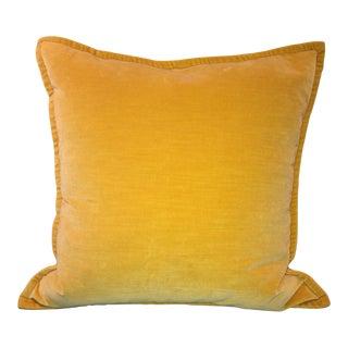 Pottery Barn Honey Gold Velvet Pillow