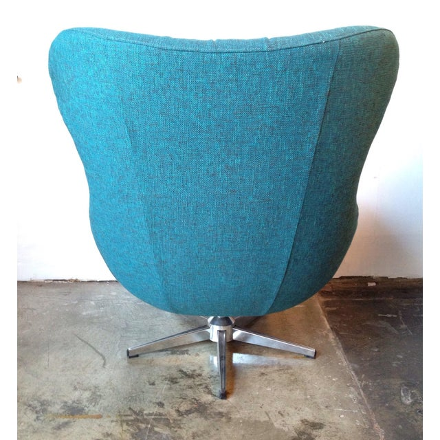 Mid Century Modern Turquoise Egg Chair Chairish