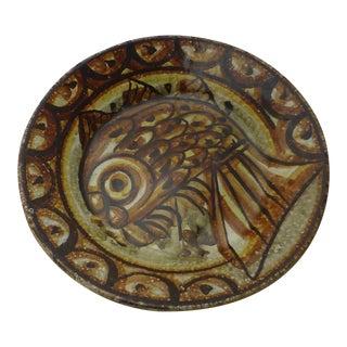 Mid-Century Italian Pottery Fish Plate