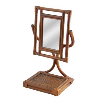 Bamboo Standing Vanity Mirror