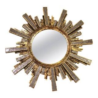 Italian Gold Gilded Sunburst Mirror
