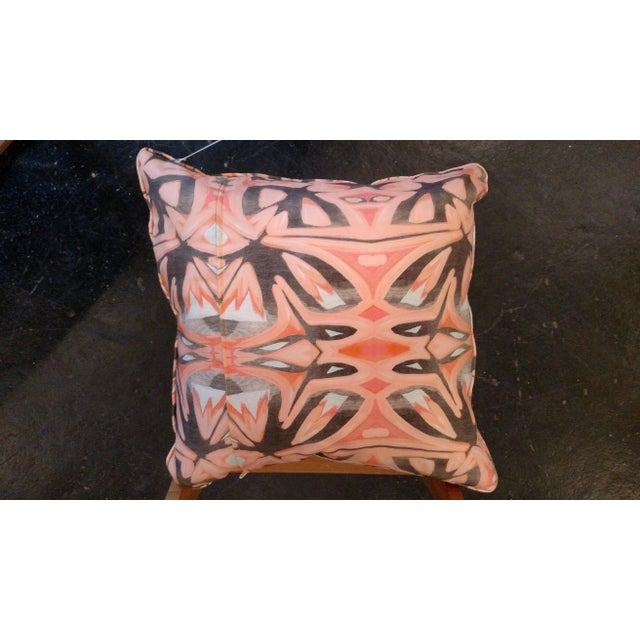Small Peach Pillows by Amanda Talley - a Pair - Image 5 of 5