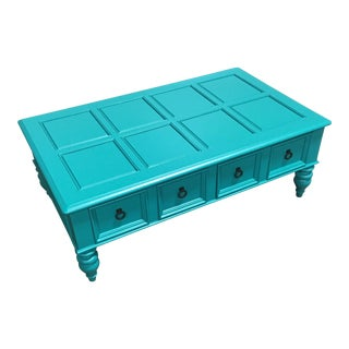 Custom Turquoise Cocktail Table by Bassett