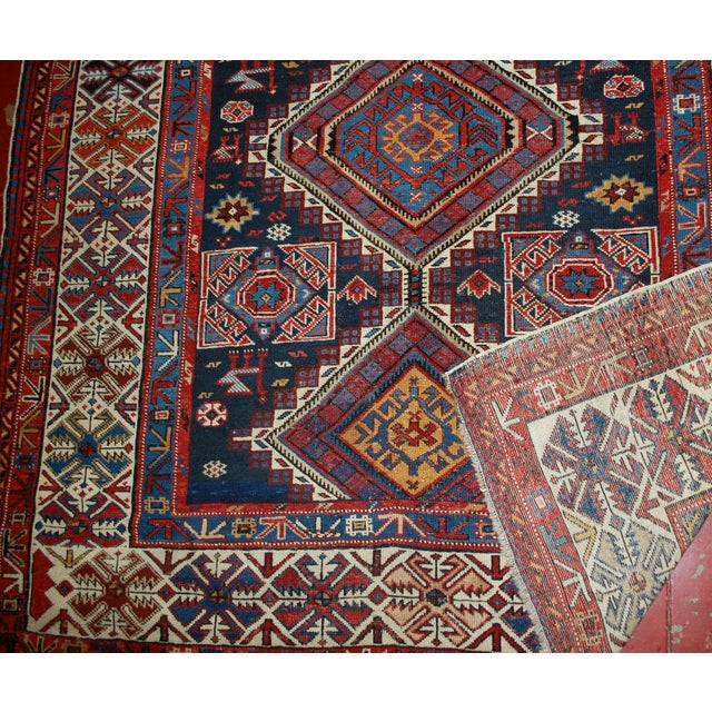Antique Caucasian Shirvan Rug- 4′9″ × 7′10″ - Image 4 of 10
