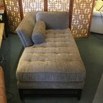 Image of Kravet Custom Brown Chaise Lounge with Pillows