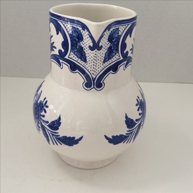 Tiffany & Co Delft Blue & White Pitcher - Image 3 of 6