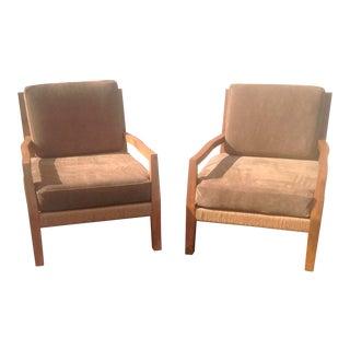 Modern Lounge Chairs - A Pair