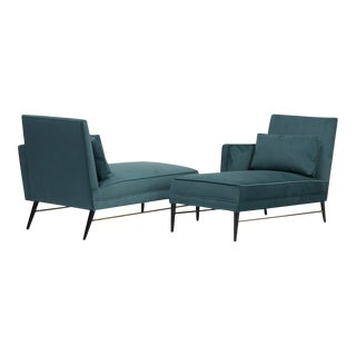 Rare Pair of Chaise Lounge Chairs by Paul Mccobb