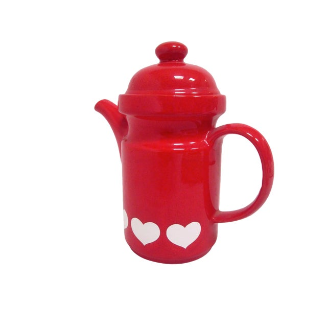 Waechtersbach German Red Heart Teapot - Image 1 of 7