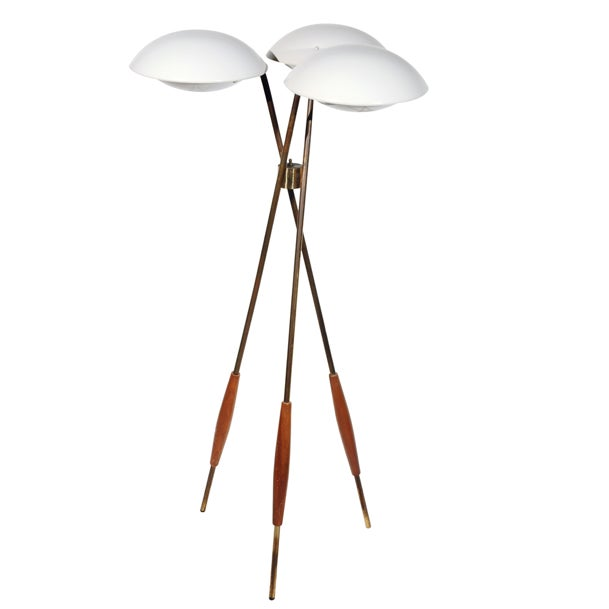 Gerald Thurston Lightolier Tripod Floor Lamp Chairish