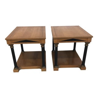 Neoclassical Style Wood End Tables - A Pair