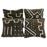 Image of Cheetah Cowhide & Mud Cloth Pillows - Set of 4
