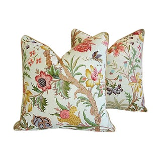 Designer Cowtan Tout Arabella Floral Feather/Down Pillows - Pair