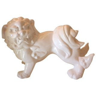 White Foo Dog Statue