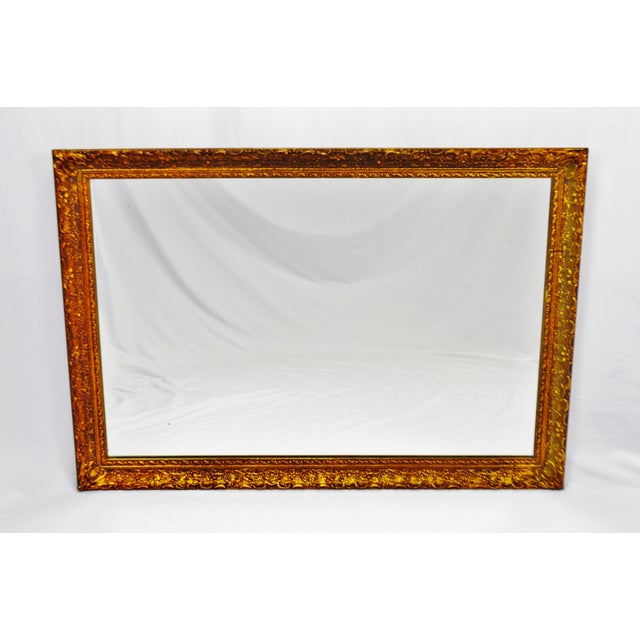Image of Vintage 1964 Gold Gilt Gesso Framed Wall Mirror