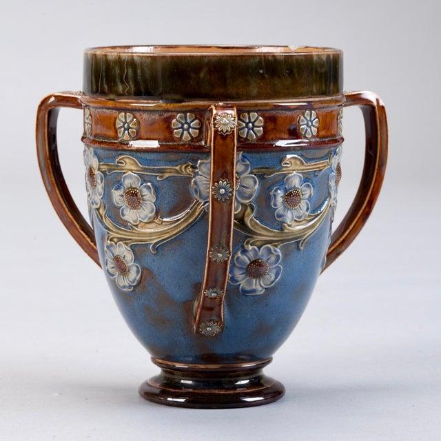 Royal Doulton Three Handled Earthenware Vase - Image 2 of 5
